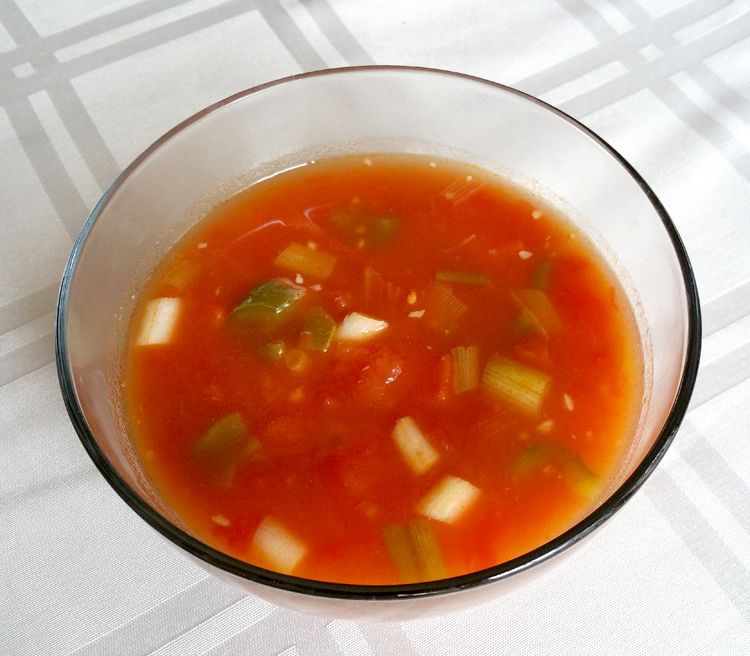 Tomato Soup with Asian Twist